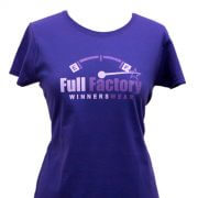 Full Factory Ladies Purple with Two Tone Logo Cotton T-Shirt - Front