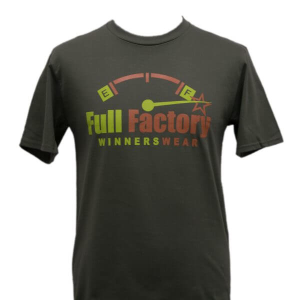 Full Factory Mens Army Green with Two Tone Logo Cotton T-Shirt