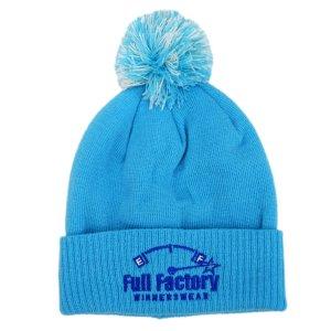 Full Factory Baby Blue Bobble Hat